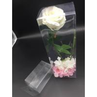 Quality China Clear plastic boxes folding up PVC or PET box customized size  packaging flowers for sale