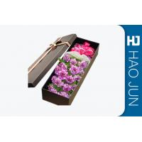 Quality High End Flower Bouquet Delivery Boxes / Fashionable Cardboard Rose Boxes for sale