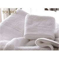 Quality Machine Washable Pure White Hotel Towel Set  Quick dry 100% Cotton for sale