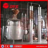 Quality 5000 L Red Copper Grain Alcohol Distiller Dye Wine Distillery CE Approved for sale