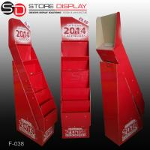 Quality 5 shelves calendar floor display stand for sale