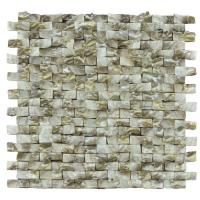 Quality Golden Diamond Shell Mosaic Tile For Bathroom Wall Panels 3D Glossy Surface for sale