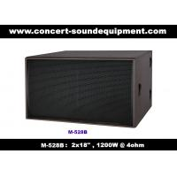 """Quality Nightclub Sound Equipment / 2x18"""" Direct Reflex 4ohm 1200W Subwoofer For Concert , Disco Living Event  And Show for sale"""