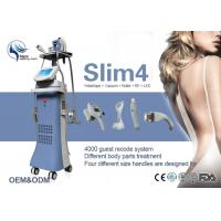 China Vacuum Suction + RF + Infrared + Massage Roller Body Shaping Machine For Slimming on sale