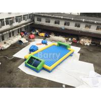Quality Door Close To Door Outdoor Inflatable Soap Football Arena , Inflatable Water Football Pitch With Bottom for sale