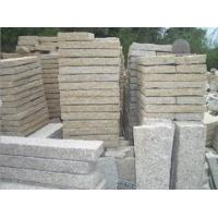 Quality Light Yellow Lanscaping & Edging Granite Curbstones for Garden for sale
