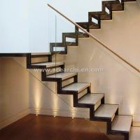 Quality Modern Design Zig Zag Staircase Beam Double Stringer Straight Staircase for sale