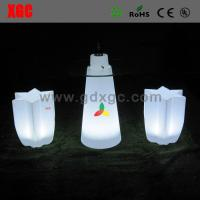 Quality Plastic LED Table And Chairs Outdoor Lighting Led Sexangle Stool CE UL Standard for sale