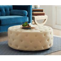 Buy cheap Ottoman Modern Wood Coffee Table Button Tufting Round Upholstery Bench from wholesalers