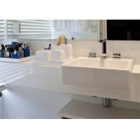 China Super White Nano Crystallized Glass Stone Vanity Top And Countertop on sale