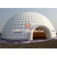 Quality CE Certificated Inflatable Dome Tent / White PVC Inflatable Dome Structures for sale