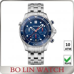 Quality Sapphire Quartz Movement 10atm Stainless Steel Sports Watch Mens Quartz Watch for sale