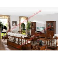 Quality Solid Wooden Carving Frame with Fabric Upholstery Sofa Set in Living Room Set for sale