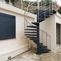 Quality Durable Outdoor Galvanized Metal Spiral Staircase Prefabricated Stairs for sale