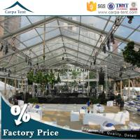Quality 500 People Luxury Transparent Wedding Tent With Clear Roof 100% Waterproof for sale