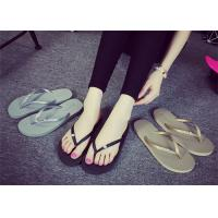 Buy Latest  Shower Flip Flops , Female Flip Flops Shoes With Rhinestone / Metal Logo at wholesale prices