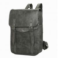 Quality Multi Pocket Business Leather Backpack , Mens Leather Backpack With Durable Anti Oxidation Metals for sale