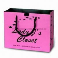 Buy cheap Paper Gift Bag with Glossy Lamination and Offset Printing, OEM Orders are from wholesalers