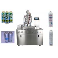 Quality R134a Refrigerant Spray Can Filling Machine , Under Cap Freon Filling Machine for sale