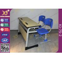 Quality Double Seats Two Seaters Student Desk And Chair Set For Junior School for sale