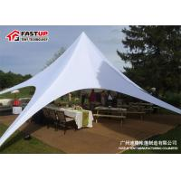 Quality White Easy Up Red Bull Star Shade Tent For Small Event Party 100KM / H Wind Load for sale