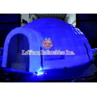Quality 6m X 6m LED Inflatable Wedding Tent Flame Retardant Environmental Protection for sale
