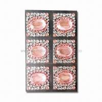 Quality MP4 Player/Cell Phone Stickers, Decorated with Crystal and Rhinestones, Made of Acrylic for sale