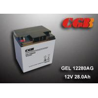 Quality 12V 28AH Gel Lead Acid Battery , EPS Vrla Rechargeable Battery Non Spillable for sale