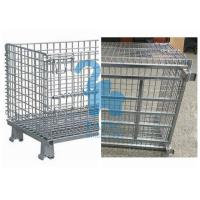 Quality Industrial Welded Wire Mesh Storage Cages Folding Structure For Shipping Container for sale