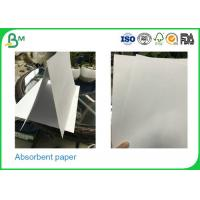 Quality 0.3mm - 2.0mm Thickness Uncoated Absorbent Cardboard Paper Rolls For Making Placemat for sale