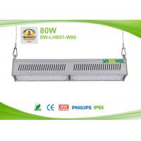 Quality High efficiency 130lm / w 80w Linear LED lighting for warehouse with racks for sale