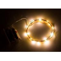 Quality Indoor Battery Operated LED String Lights , Warm White Mini String Lights for sale