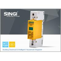 Quality 1 Pole Yellow Surge protector Device , Solar / DC lightning protection system for sale