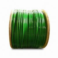 Quality PVC-coated Galvanized Steel Wire Rope, Available in Different Sizes for sale
