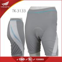 Custom Wholesale Ladies Summer Grey Polyester Padded Cycling Shorts