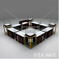 Buy showcase customized custom made jewelry showcase mall jewelry kiosk for sale at wholesale prices