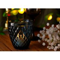 Quality Mouth Blown Glass Candle Holders For Wedding , Candle Glass Containers for sale
