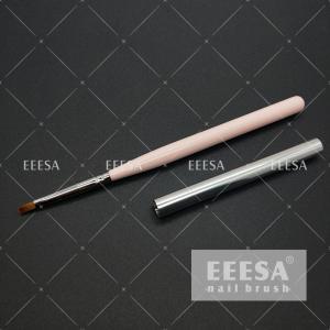 Quality Acetone Resist 715C Nail Art Gel Brush Wooden UV Coating Surface 4 7mm Hair Length for sale