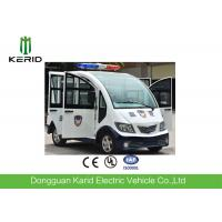 Quality 4kw AC Motor Electric Patrol Car / Electric Pickup Cart With Top Alarm Lamp Mini Dimensions for sale