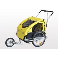 Quality 2 in 1 Baby Bike Trailer / Jogger steel frame with silver shining surface for sale
