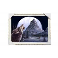 Quality CMYK 3D Wolves Image Lenticular 3d Pictures PS Frame For Office Decoration for sale