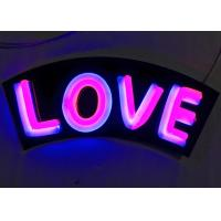 Indoor / Outdoor Personalized Neon Light Signs , Colorful