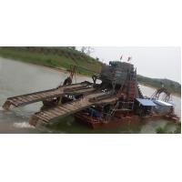 Bucket Chain Excavator Dredging Boat River Gold Panning SGS Certification