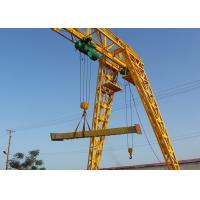 Strong Steel Industrial Electric Gantry Crane Single Beam 5-20 Ton Loading Capacity