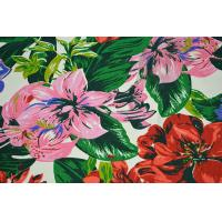 Quality Natural Cotton Fabric / 16OZ Cotton Canvas With Nice Flower Printing for sale