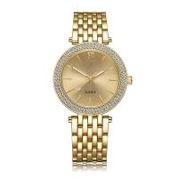 China Special Luxury Brass Wrist Watch , 3 ATM Women'S Gold Watch With Diamonds on sale