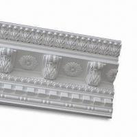 China PU Plain Cornice Moldings, Impervious to Insects and Moisture Resistant on sale