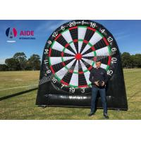 Quality Customized Outdoor Giant Inflatable Sports Equipment Black Soccer Dart Board for sale