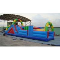 China Fun Inflatable Water Obstacle Course Water Slide For Birthday Party Abrasion Proof on sale