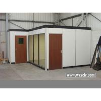 China Modular Office Partitions With White Ecological Door, Wallpaper Support Sound Privacy on sale